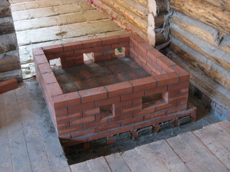 фундамент под кирпич печь
