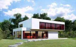 Описание и отделка фасада дома в стиле хай-тек