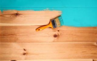 Краска с сохранением структуры дерева