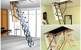 Удобный и стильный чердачный люк с лестницей своими руками