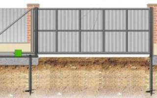 Фундамент под откатные ворота длиной 4 метра