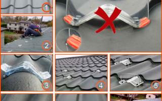 Снегозадержатели на металлочерепицу: пошаговая инструкция по установке
