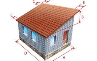 Расчет односкатной крыши, угла наклона