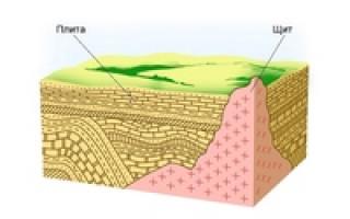 8 класс география Тест по теме «Рельеф и геологическое строение территории России» Вариант -1