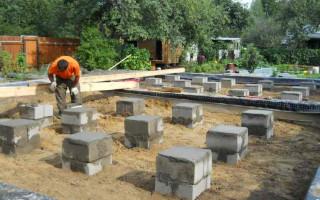 Как построить столбчатый фундамент из блоков 20-20-40 своими руками
