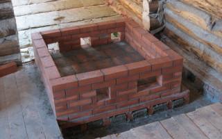 Как сделать фундамент под печь; все варианты исполнения