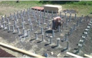 Устройство столбчатого фундамента из пластиковых труб