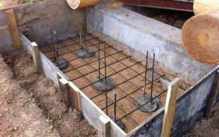 Ленточный фундамент под крыльцо со ступеньками