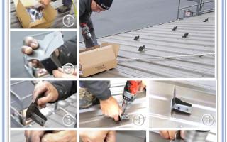 Снегозадержатели на крышу из профлиста: выбор лучшего варианта правила установки